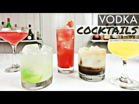 5 QUICK + EASY VODKA COCKTAILS!