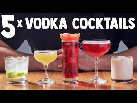 5 QUICK + EASY VODKA COCKTAILS! (part 1)
