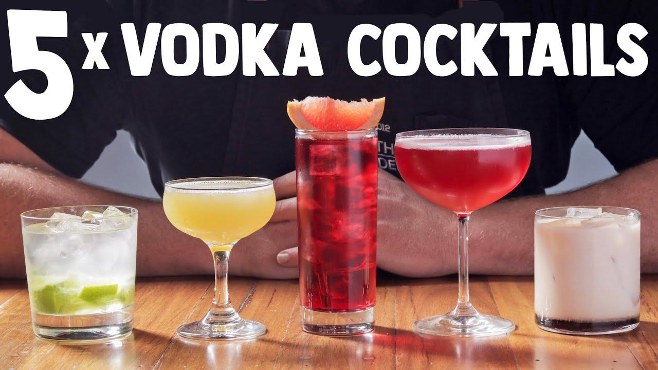 5 Quick Easy Vodka Cocktails Part 1 Youtube