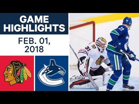 NHL Game Highlights   Blackhawks vs. Canucks – Feb. 1, 2018