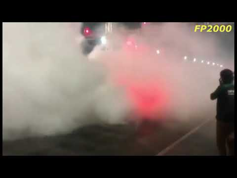 Dodge charger hellcat goes in flames after a insane burnout