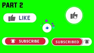 New Style | Green screen animated Subscribe,Like,Bell icon with sound effect | Green \u0026 Black screen