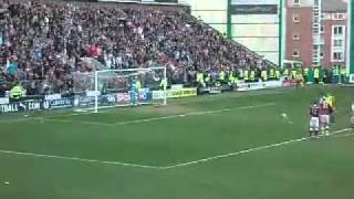 Hibs goal  against hearts 1-1