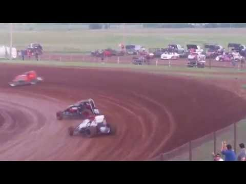 Lawton Speedway Non Wing Champ heat #2 6/4/2016