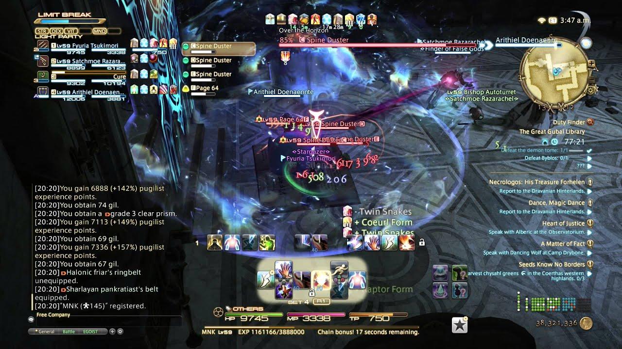 FFXIV: Heavensward Gameplay - 28 - Monk - The Great Gubal Library
