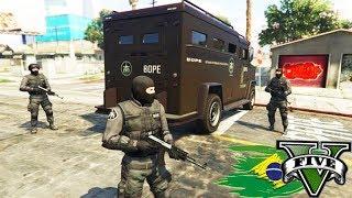 GTA V: ROLEPLAY POLICIAL - A POLICIA INVADIU a FAVELA!!! #138