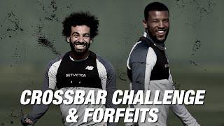 Forfeit Crossbar Challenge: Salah, Lovren, Oxlade-Chamberlain and Wijnaldum