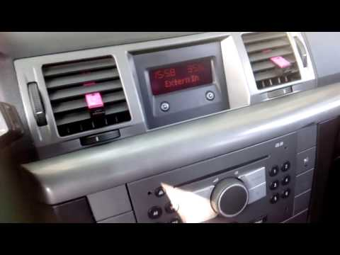 Opel Vauxhall Aux How connect on CD30 opel