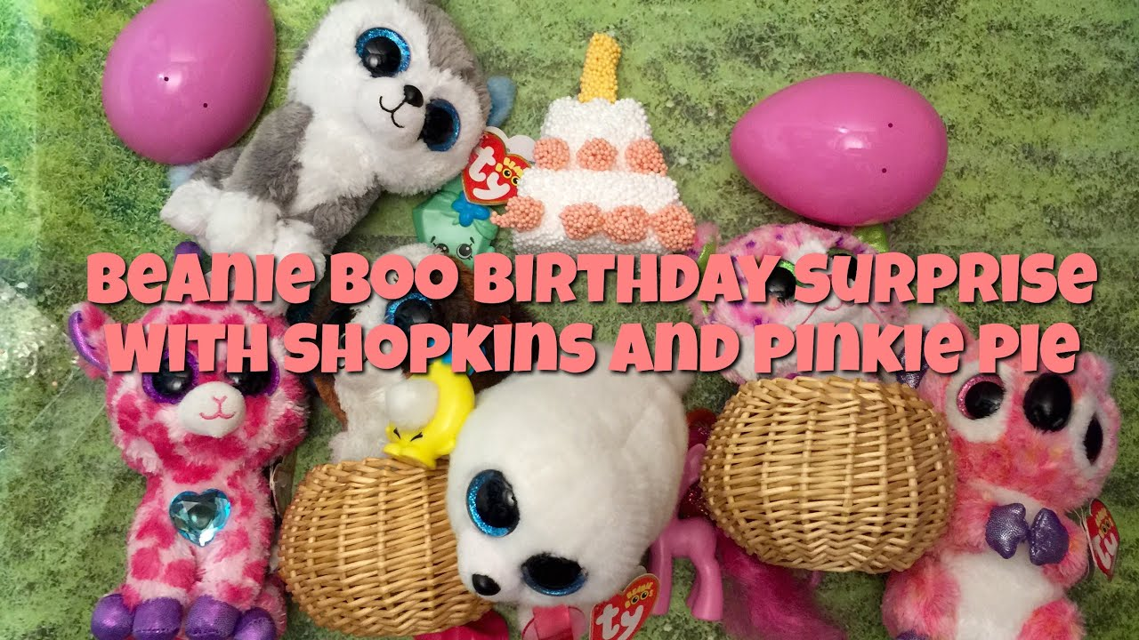 Beanie Boo Birthday Surprise with My Little Pony and Shopkins - YouTube 0d0bd067c92