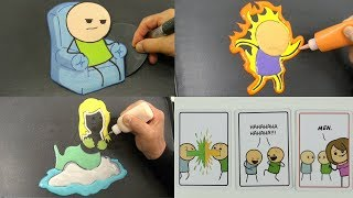 Cyanide & Happiness Compilation Pancake Art - Fire, Netflix, Mermaid, Card, Unboxing, Game