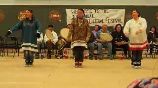 Gambell women dancing Eskimo dancing