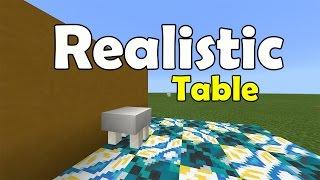 REALISTIC TABLE !!! No Mod, No Addon, No Commands | Minecraft PE (Pocket Edition) MCPE Furniture