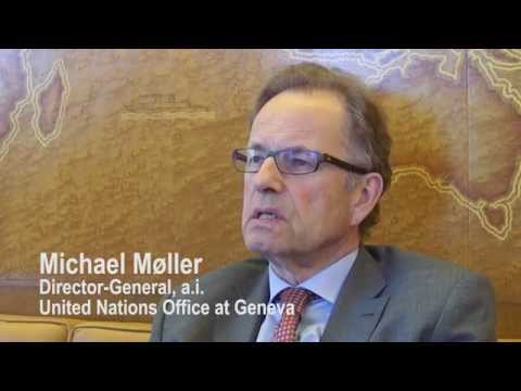 Michael Møller introduces first-ever tablet version of UNOG Annual Report
