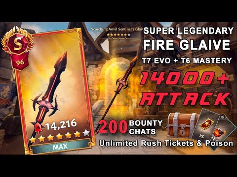 Best FIRE WEAPON MAXED OUT With 200 Bounty Chats Opening | DH5 | Dungeon Hunter 5 | Unlimited Rush