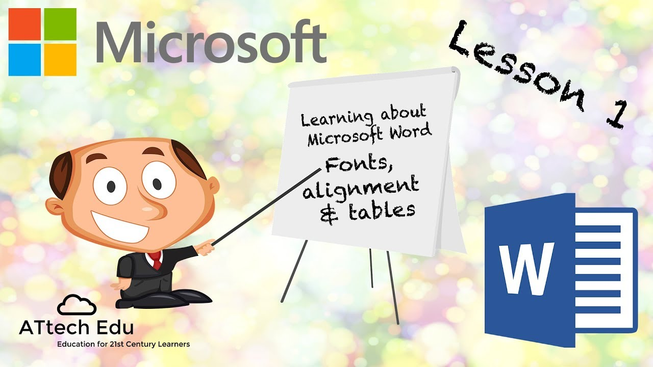 learning about microsoft word lesson 1 creating tables and titles in microsoft word