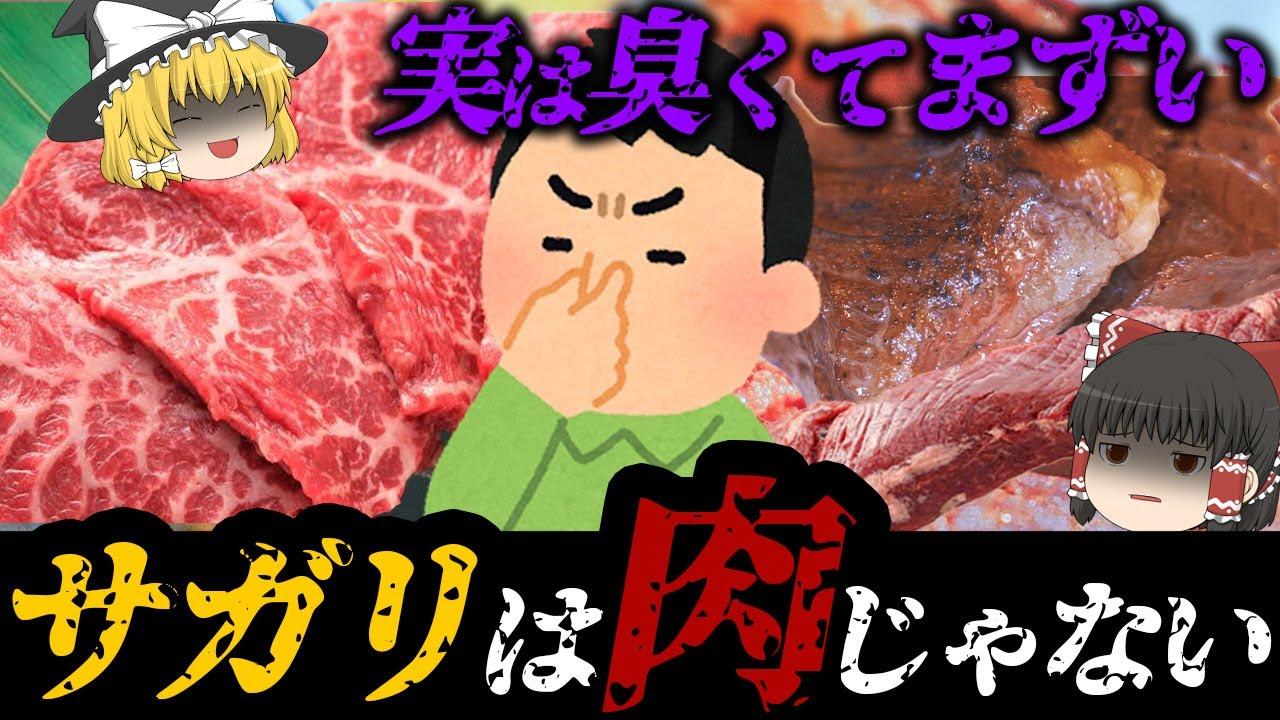【ゆっくり解説】本当は臭くてまずくて食べられない!?牛サガリにハマる理由について