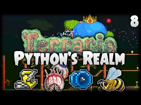 Terraria Let's Play (1.3.5) | Lightning Boots & 3 Bosses At Once! | Python's Realm [S2 - Episode 8]