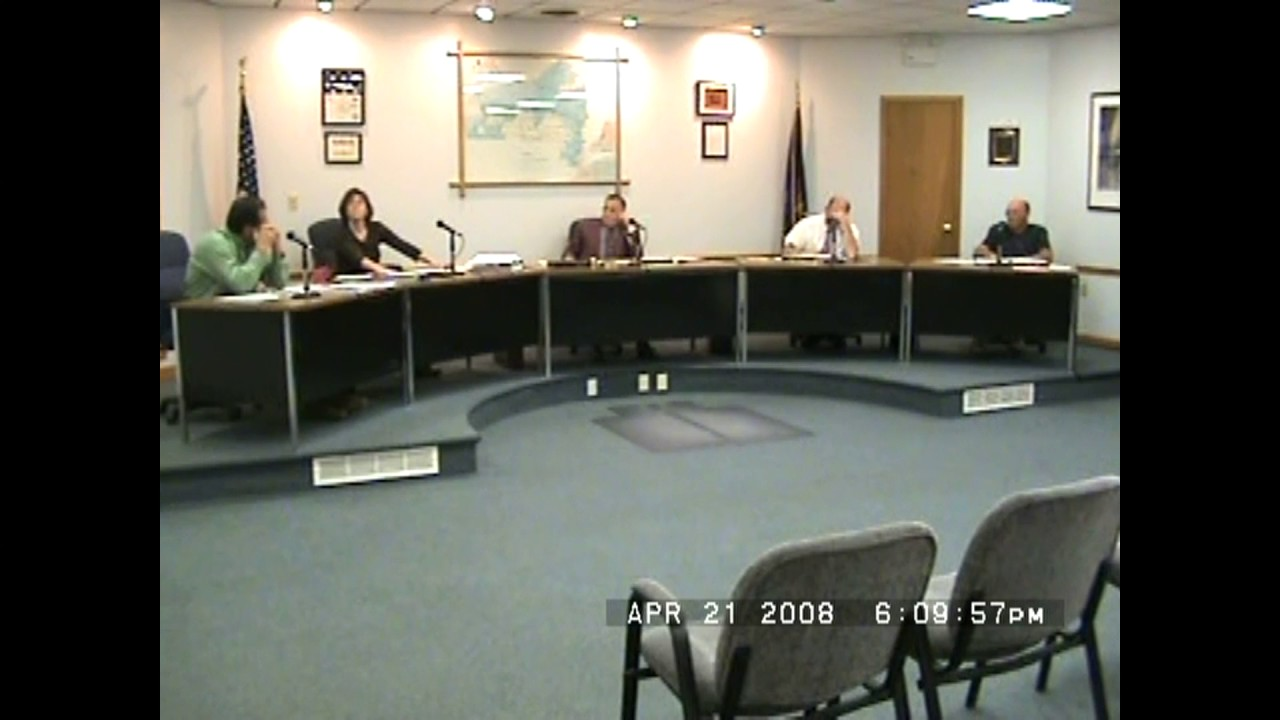 Rouses Point Village Board Meeting  4-21-08