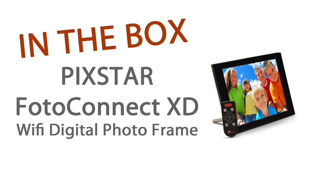 PixStar FotoConnect XD WiFi Digital Photo Frame Unboxing - YouTube