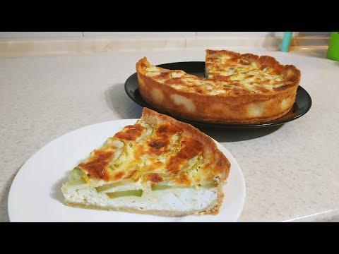 Пирог с кабачками и брынзой. Просто, вкусно, красиво!