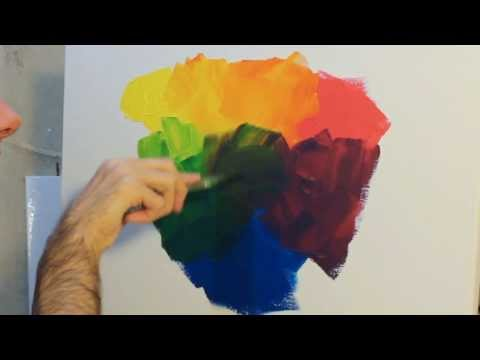 how-to-paint:-using-and-mixing-primary-colours-with-acrylic-paint-on-canvas.