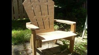 Diy Homademade Cardboard Adirondack Chair / Muskoka Chair