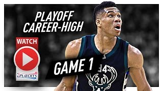 Giannis Antetokounmpo Full Game 1 Highlights vs Raptors 2017 Playoffs - 28 Pts, 8 Reb, BEAST!