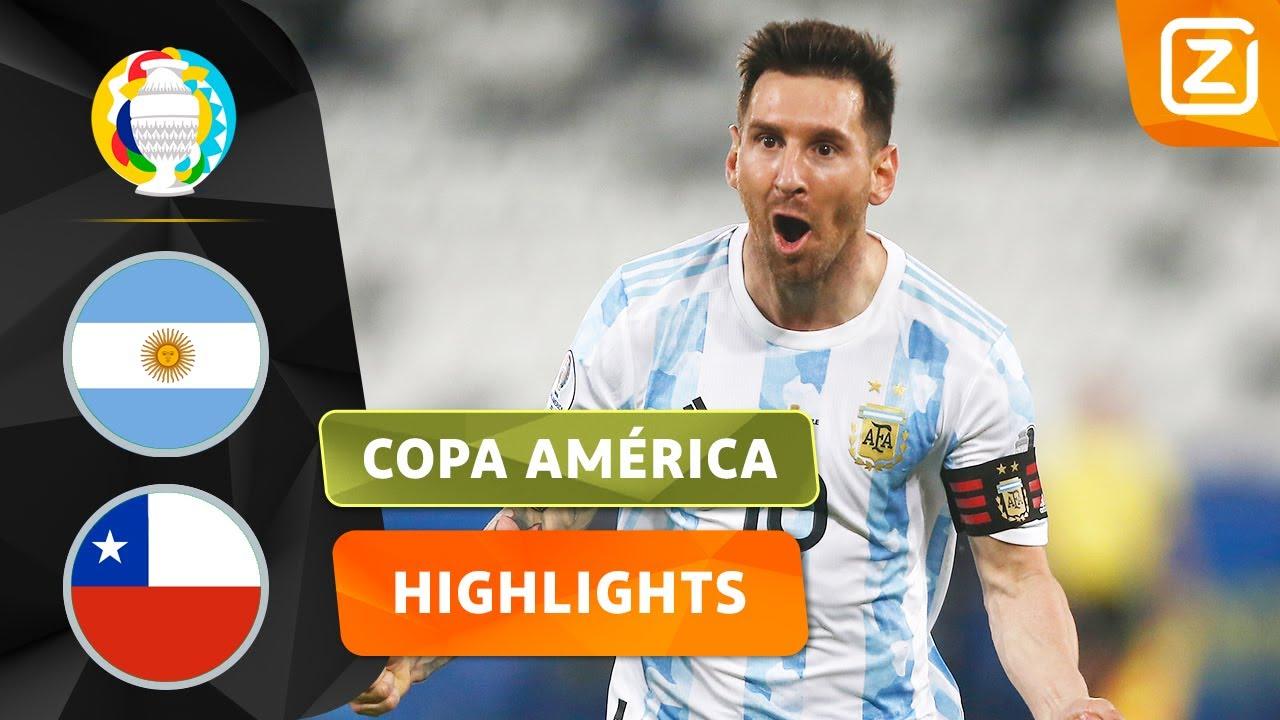 MESSI MET EEN SCHITTERENDE VRIJE TRAP 💥 | Argentinië vs Chili | Copa América 2021 | Samenvatting