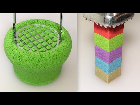 Very Satisfying Video Compilation 58 Kinetic Sand Cutting ASMR