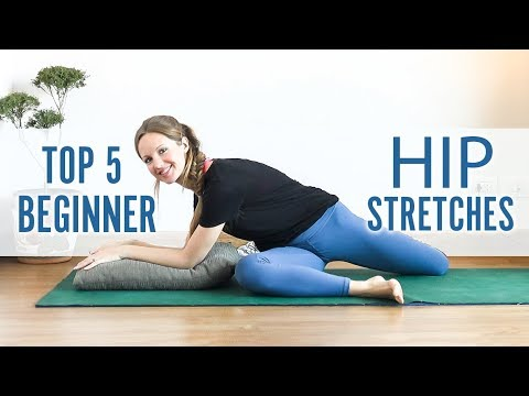 5 easy hip stretching yoga poses ♥ yoga for beginners