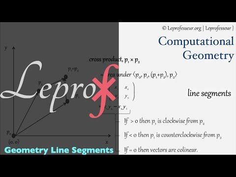 Algorithms } 040 } Computational Geometry } Line Segments }