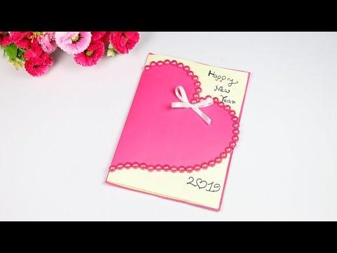 How To Make New Year Card For Boyfriend Or Girlfriend Handmade