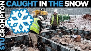 Bricklaying Caught in The Snow!