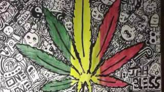 DOODLE ART Cannabis Leaf | Timelapse Drawing