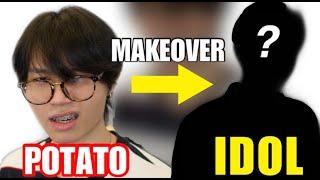 POTATO to SUPER IDOL? | Kpop Idol transformation | ISSACYIU |宅男大改造 ft. Kinryyy