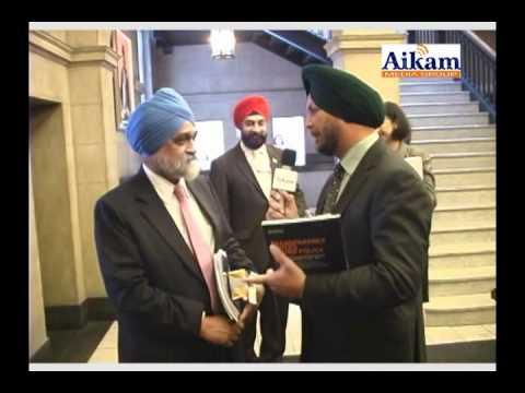 Montek Singh Ahluwalia with Amarjit Rai