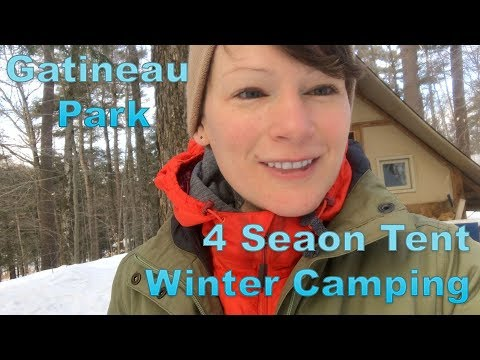 4 season tent winter camping in Gatineau Park