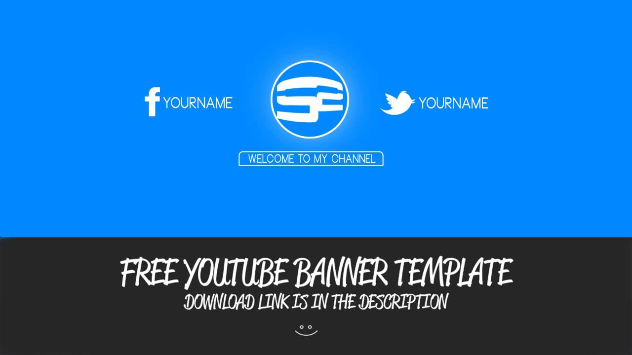 Free Clean YT Banner Template! - YouTube