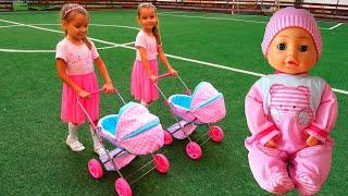 Кукла Настя и песенка для детей Играем в дочки матери с куклами Беби бон Как мама / Magic Twins