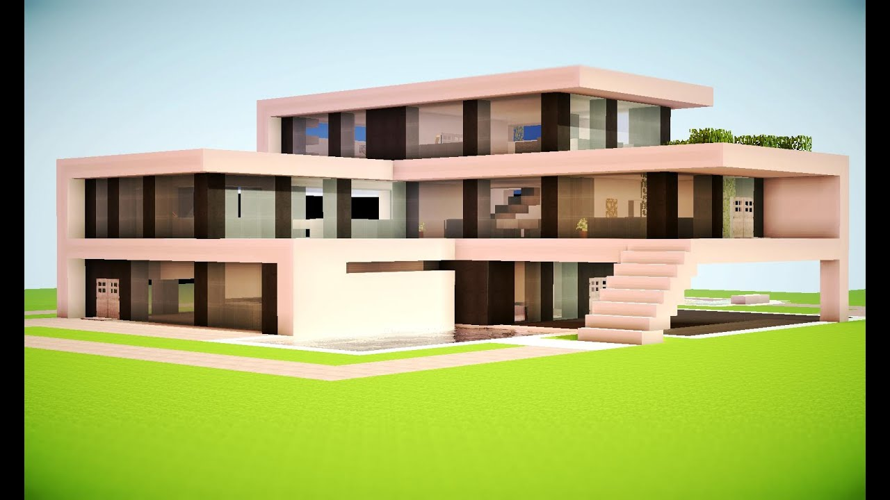 Minecraft how to build a modern house minecraft modern for How to build a modern house