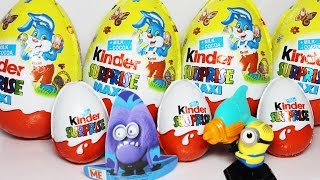 Minions Toys Kinder Maxy Surprise Bunny chocolate, Mega Egg Ciocholate 2010p