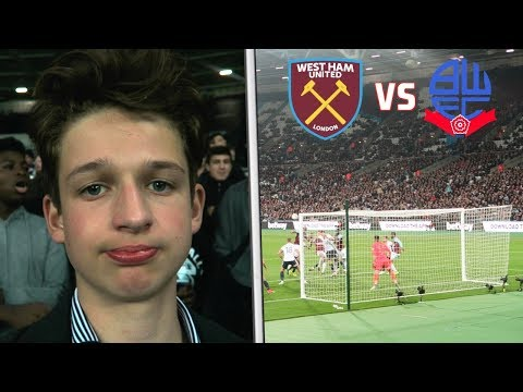 WEST HAM vs BOLTON - VLOG - CHICHARITO COULDN'T SCORE! 😂
