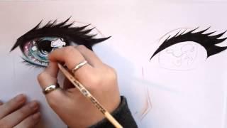 Galaxy Eyes   Anime   Speed Drawing