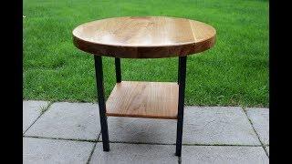 Metal, Eiche und Epoxy Resin = Gartentisch / Garden table - Part 2 - diy