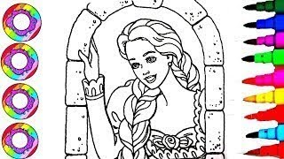 Coloriage Colorer La Princesse Disney Barbie - Colouring drawingS Disney Tangled Barbie as Rapunzel
