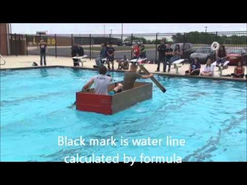 Tristan and Cameron Ross Cardboard Boat Physics Project - New Braunfels Canyon High School