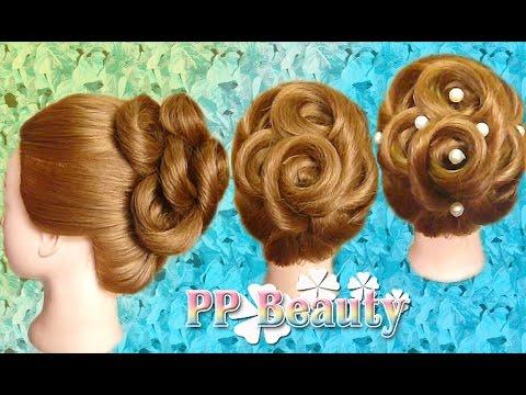 ผมเกล้า ม้วนก้นหอย : Updo hairstyles for medium/long hair