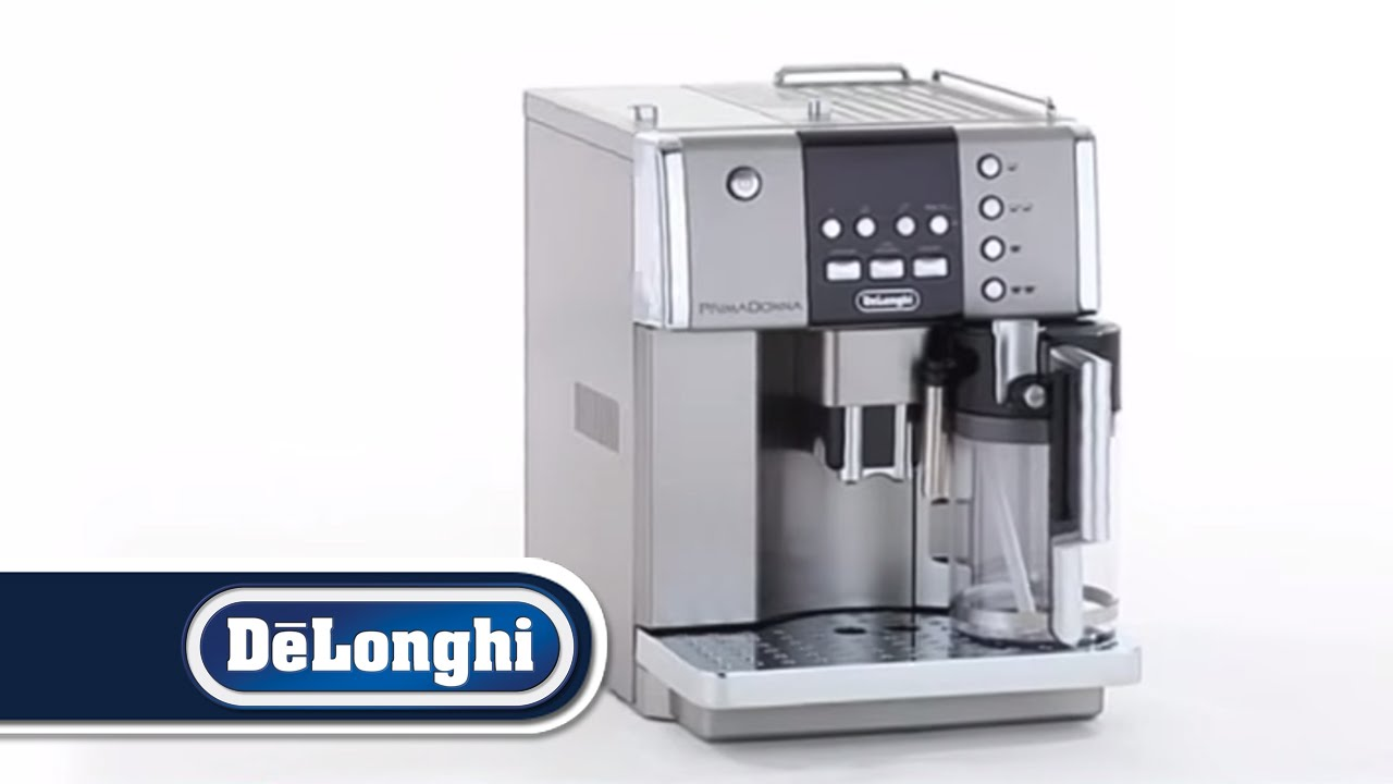 Delonghi Coffee Maker Ec7 : DeLonghi PrimaDonna Bean To Cup Coffee Machine ESAM6600 - YouTube