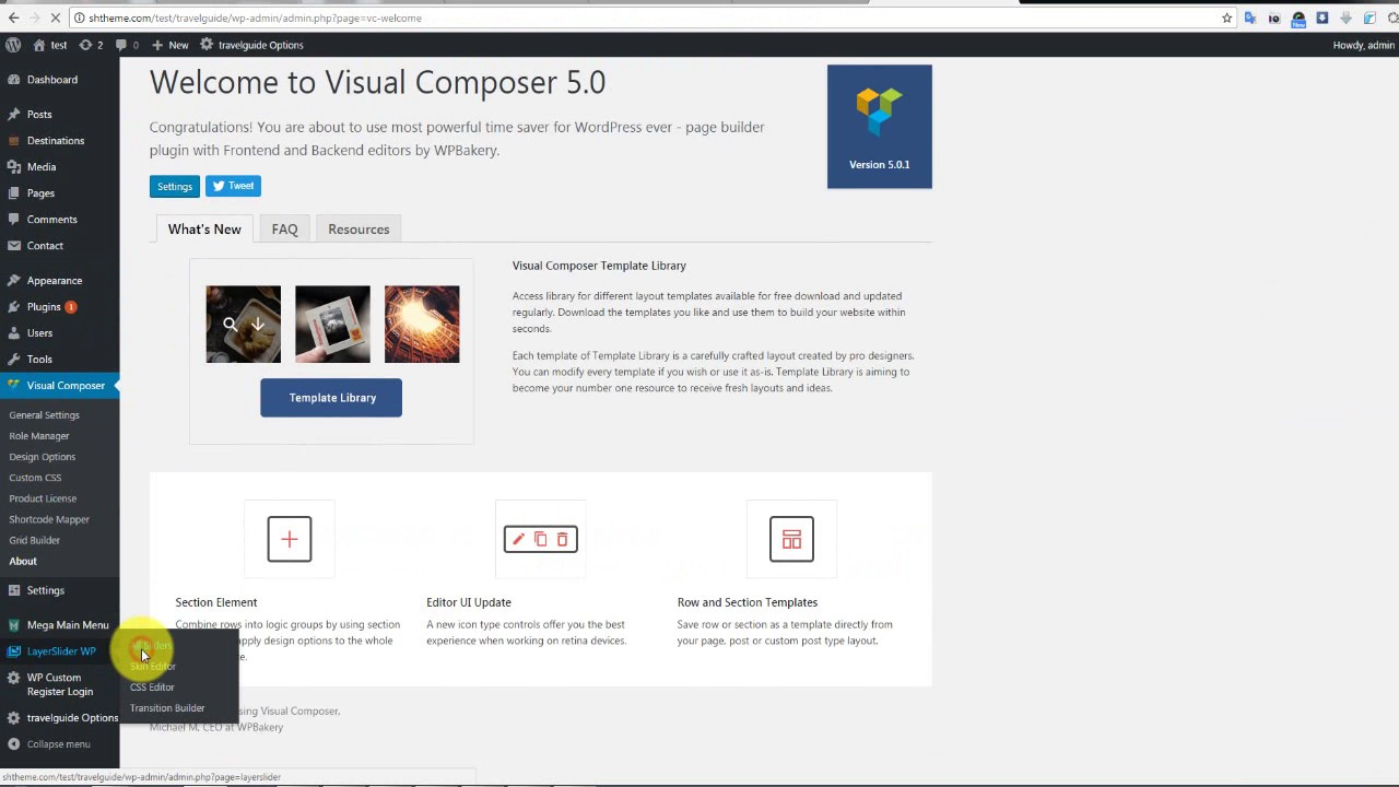 Video Guide Install Data Example Travel WordPress
