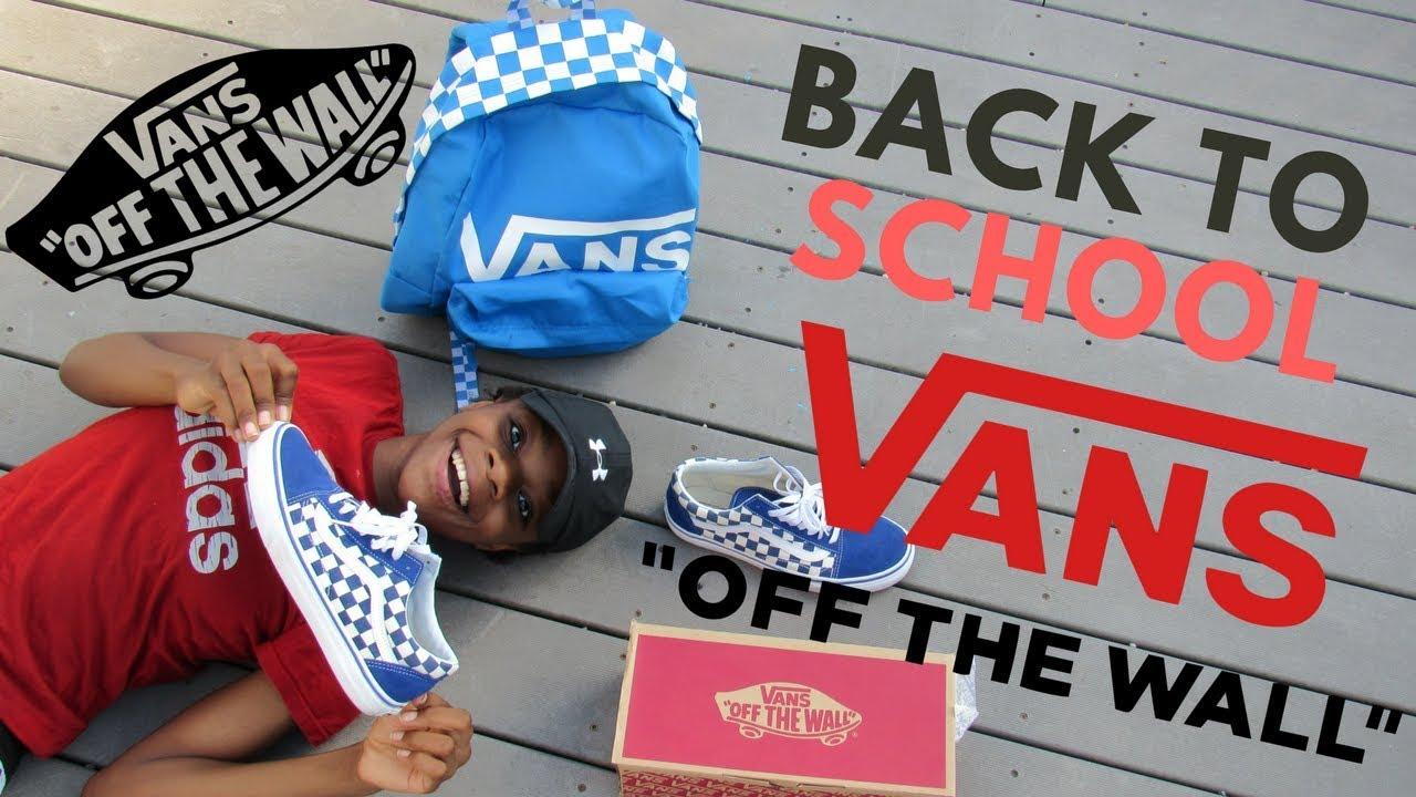Vans Checkerboard Old skool True blue Back to school Review Unboxing